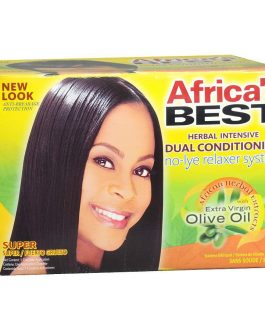 AFRICA'S BEST HERBAL INTENSIVE DUAL CONDITIONING NO-LYE RELAXER SYSTEM KIT